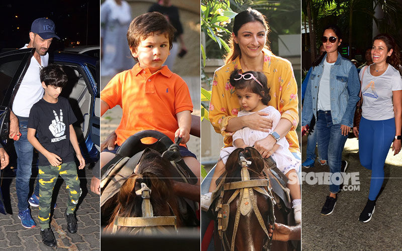 Celeb Spottings: Hrithik Roshan Papped With His Kid, Taimur-Inaaya Enjoy A Horse Ride, Katrina Clicked With Her Fitness Trainer