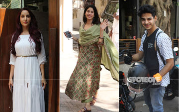 Celeb Spottings: Janhvi Kapoor Looks Gorgeous In A Traditional Dress, Ishaan Khatter Keeps It Casual