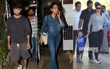 Celeb Spottings: Shahid-Mira Step Out For A Dinner Date, Kareena Kapoor Picks Up Taimur From Playschool