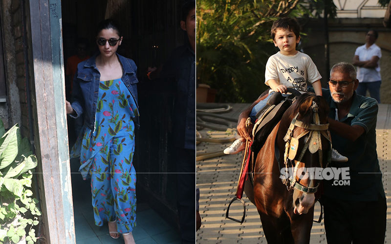 Celeb Spottings: Alia Bhatt Goes Floral, Taimur Ali Khan Pursues His Hobby Of Riding Horses