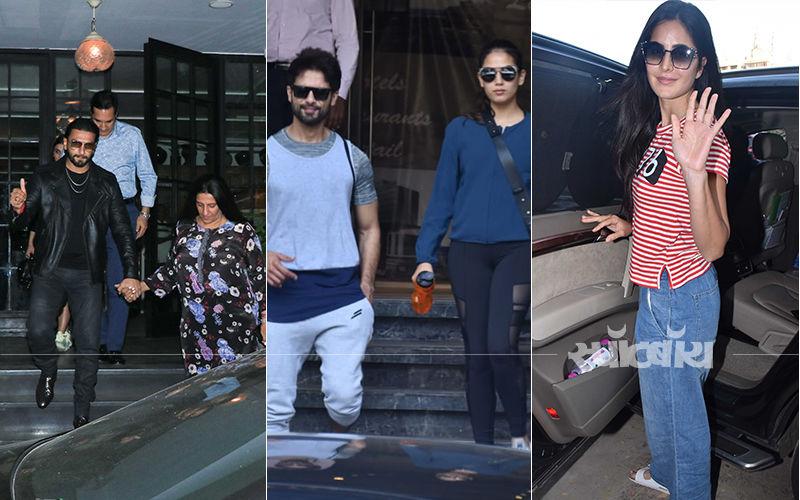 रणवीर सिंह, कैटरीना कैफ मीरा राजपूत और शाहिद कपूर सहित मुंबई की अलग-अलग जगहों पर स्पॉट हुए सितारे: देखिए तस्वीरें
