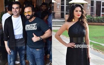 Celeb Spottings: Saif Ali Khan-Arbaaz Khan Papped Together, Sunny Leone Clicked Solo In A Beautiful Black Dress