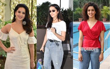 Celeb Spottings: Sunny Leone Makes For An Adorable Sight In A Cream Dress, Shraddha Kapoor-Sanya Malhotra Keep It Casual