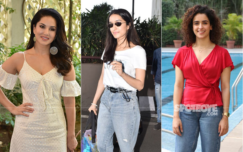 Celeb Spottings: Sunny Leone Makes For An Adorable Sight In A Cream Dress, Shraddha Kapoor-Sanya Malhotra Keep It Casual