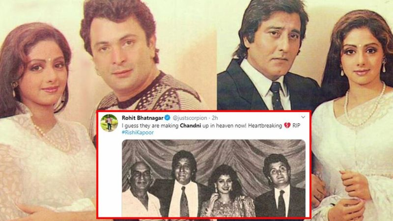 Rishi Kapoor Joins Chandni's Sridevi, Yash Raj Chopra And Vinod Khanna In Heaven; It's A Reunion Of Legends Up There