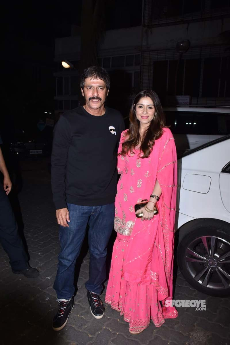 Chunky Panday and Bhavna Panday At Anil Kapoors Party