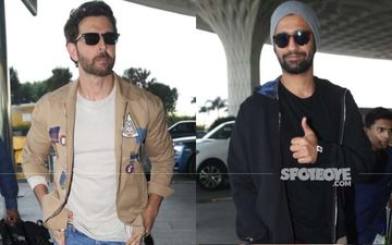 Hrithik Roshan And Vicky Kaushal's Super Hot Airport Look Is The Perfect Way To Say, 'Gooooood Morning!'