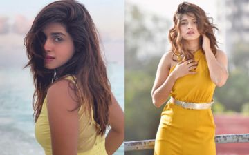 Sanskruti Balgude Looks Sensuous Hot In A Yellow Jumpsuit For Her Recent Photoshoot