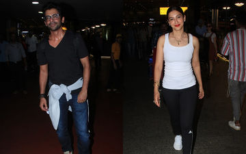 Gauahar Khan and Sunil Grover Share A Jadoo Ki Jhappi At The Airport