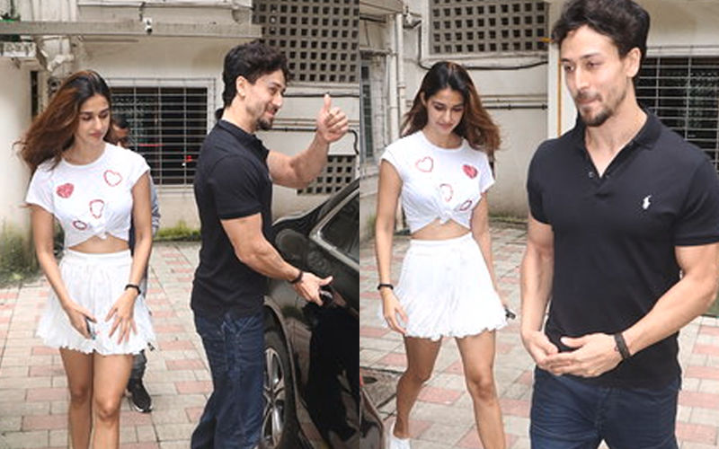 Disha Patani Literally Wears Her Heart On Her Sleeve As She Steps Out With Tiger Shroff