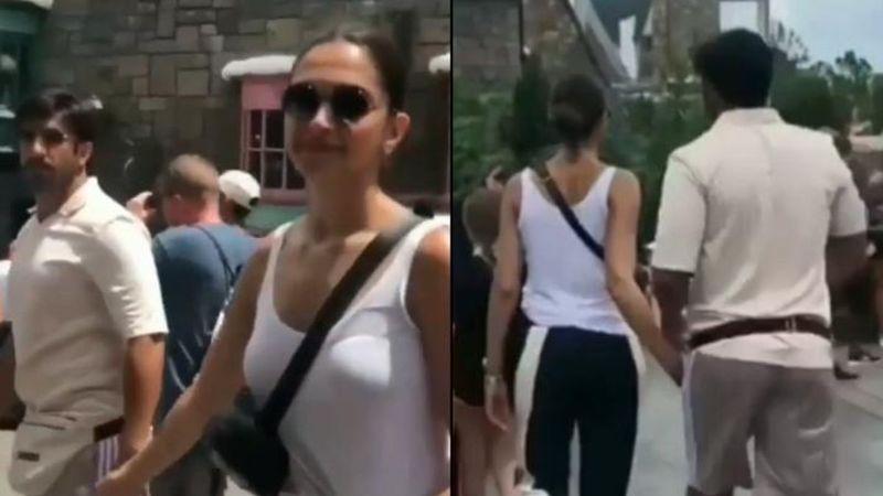 Lovebirds Ranveer Singh-Deepika Padukone Taking A Stroll In Disneyland Months Before Their Marriage Is Unmissable - Throwback Video