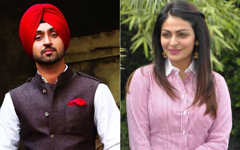 Diljit Dosanjh And Neeru Bajwa Have A  Ball On The Sets of 'Shadaa'