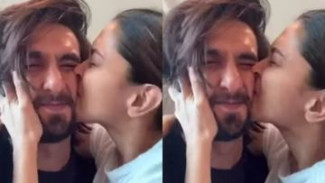 Deepika Padukone Can't Stop Kissing Her 'Cutie' Ranveer Singh's 'World's Most Squishable Face'; We Are Melting - VIDEO