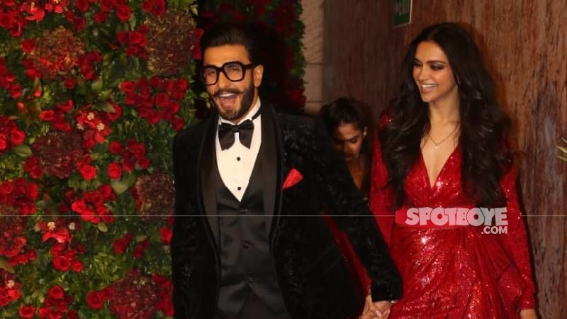 Ranveer Singh Looks Oh-So-In-Love With Wifey Deepika Padukone In These Latest Pictures; Actress Finds Him 'Too Handsome'