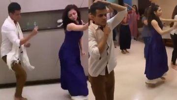Drashti Dhami And Hubby Niraj Khemka Are Perfect Dance Partners; Couple Rehearses To Chunari Chunari For A Wedding – VIDEO