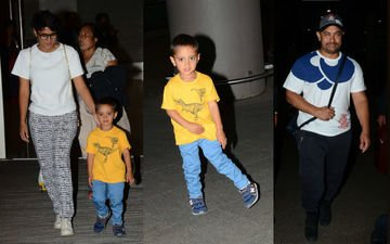 Aamir, Kiran, Azad Return To Mumbai After A Fun Vacation At Disneyland