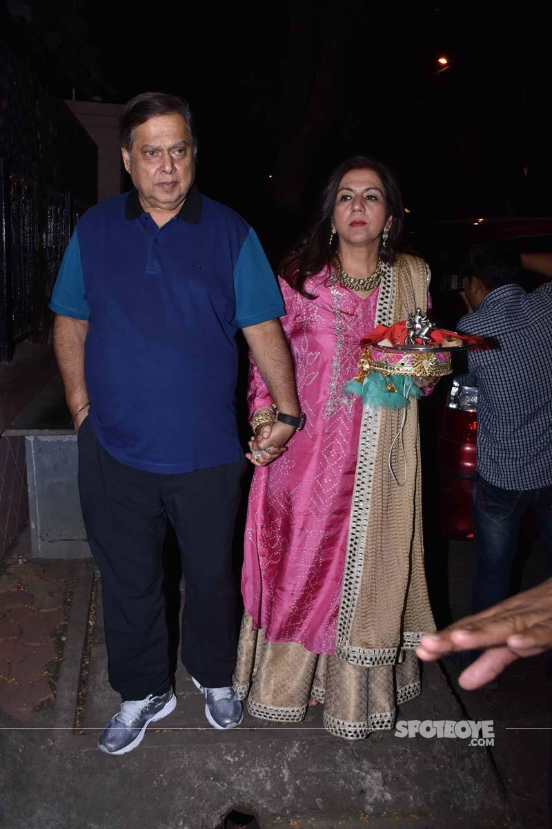 David Dhawan and Lali Dhawan At Anil Kapoors Party