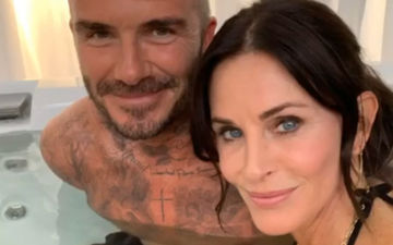 Courteney Cox Has Found A New FRIEND In David Beckham, But What Are They Doing In A Hot Water Tub Wonders Jennifer Aniston