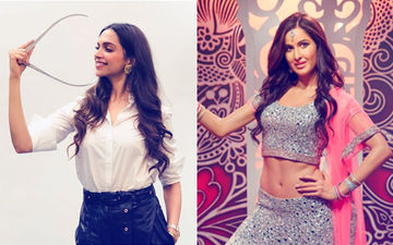 Deepika Padukone Face-To-Face With Katrina Kaif At Madame Tussauds, London