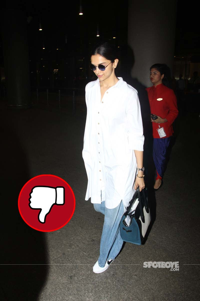 Deepika Padukone Spotted At Mumbai Airport