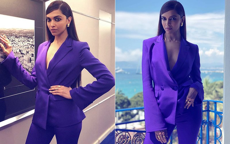 She Can(nes) Do It! Deepika Makes A Blazing Statement In A Purple Power Suit