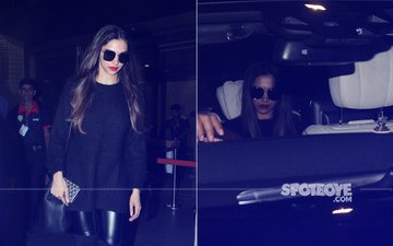 Deepika Padukone Looks DISTURBINGLY SEXY In An All-Black Avatar At The Airport
