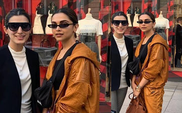 """Deepika Padukone Poses With A Fan In London; Netizens Feel Latter Is Dressed Better, """"Who's The Actor?"""" They Ask"""