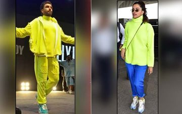 Deepika Padukone Borrows Ranveer Singh's Neon Turtle Neck T-Shirt For Her Latest Outing, See Pics