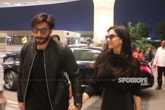 Deepika Padukone And Ranveer Singh Leave Mumbai Before The Curfew Begins; Duo Once Again Sets Goals In Matching Clothes