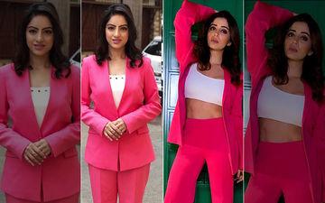 Nehha Pendse Copies Deepika Singh's Style, Wears Similar Pink Pantsuit As Hers