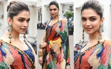 Deepika Padukone Exudes Class And Elegance In An Abstract Saree