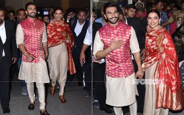 शादी के बाद मुंबई लौटे रणवीर और दीपिका, देखिये तस्वीरें