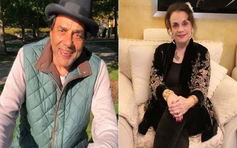 Veteran Actress Mumtaz Pays A Surprise Visit To Dharmendra At His Home; Poses For Photos With The Actor And His First Wife Prakash Kaur