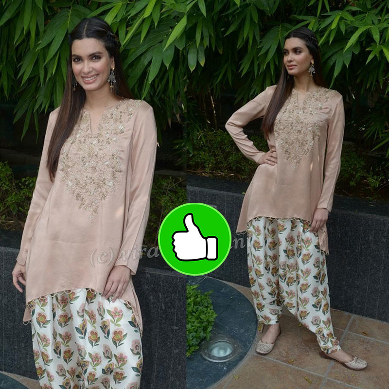 Diana Penty Snapped At The Promotion Of Happy Phirr Bhag Jayegi