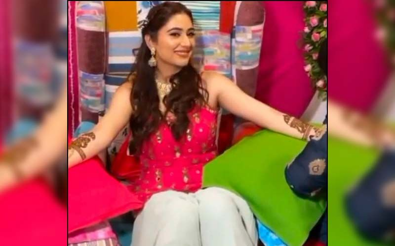Rahul Vaidya-Disha Parmar Wedding: Bride-To-Be Looks Pretty In Pink At Her Mehendi Ceremony -Check Out Her VIDEOS