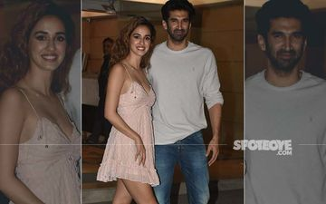 Disha Patani At Aditya Roy Kapur's Residence Last Night; Boy, They Look GOOD Together - PICS