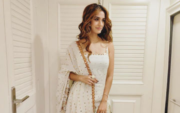 Radhe Muharat Puja: Disha Patani Looks Divine In White And Gold, Our Eyes Are On The Box Of Kaju Katli Though