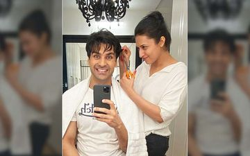 Divyanka Tripathi Becomes A Hair Stylist For Hubby Vivek Dahiya But He Doubts, Says: 'Can You Trust Your Wife With A Haircut?'