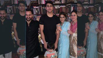 Pataudis' Diwali Party 2019: Saif Ali Khan, Kareena Kapoor, Sara Ali Khan, Taimur Ali Khan And Ibrahim Ali Khan Dazzle Like Diamonds