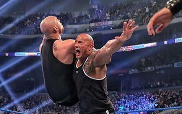 Dwayne The Rock Johnson Thanks Baron Corbin For Letting Him Pull Rock Crash On Him; Asks Corbin To Be A 'Bad MF'er'