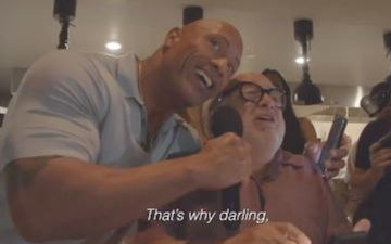 Dwayne The Rock Johnson Gatecrashes A Wedding With Danny DeVito, Sings 'Unforgettable' For The Bride