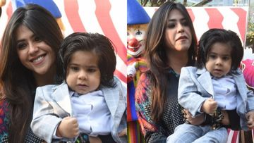 Ekta Kapoor FINALLY Introduces Son Ravie To The World On First Birthday; Surveen Chawla, Esha Deol, Karan Patel Attend