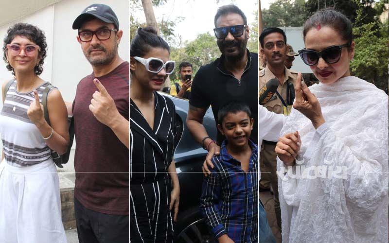 Lok Sabha Election 2019: रेखा, आमिर खान, वरुण धवन, महेश भट्ट सहित कई सितारों ने दिए वोट, देखिए तस्वीरें