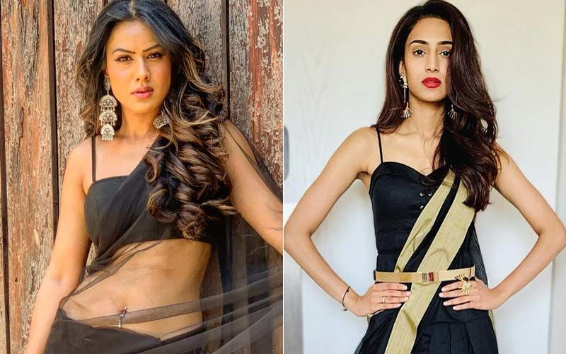 Nia Sharma Or Erica Fernandes- Who Looks Sexier In Black Saree?