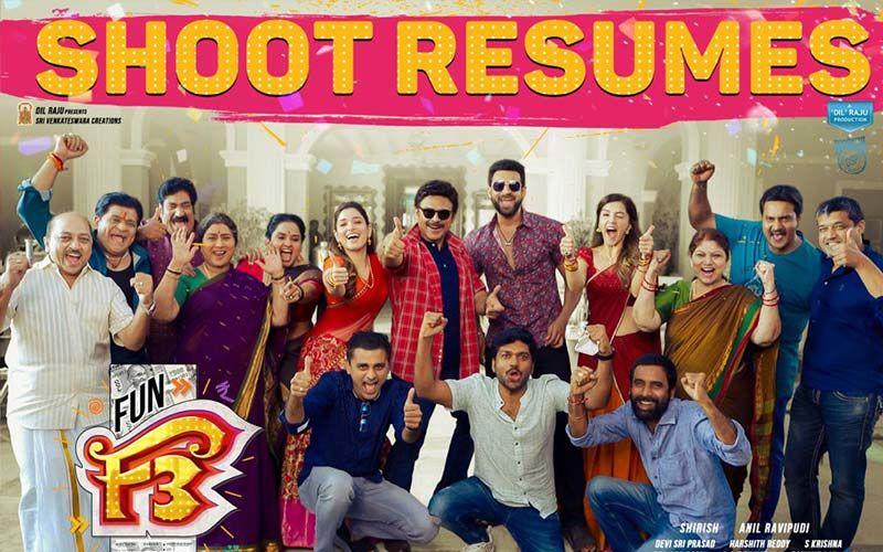 F3: Victory Venkatesh, Mega Prince Varun Tej, Resumes Shooting For The Comedy Drama In Hyderabad