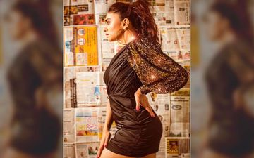 Amruta Khanvilkar Flaunts Her Curvy Hot Body In A Statement Gimmering Mini Dress