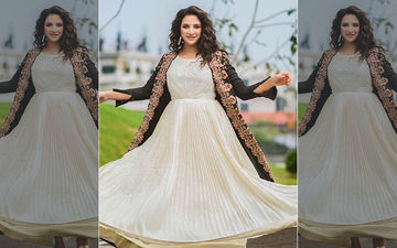 Subhashree Ganguly Is Looking Beautiful In White And Black Embroidered Dress