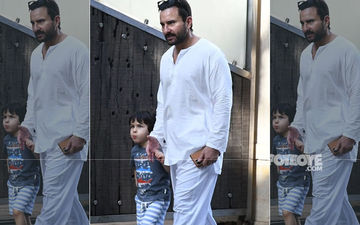Saif Ali Khan And Taimur Ali Khan Remain Unfazed By COVID-19; Clicked Out And About In Mumbai