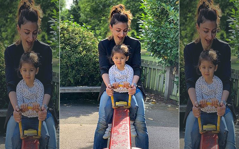 Inaaya Naumi Kemmu's Joyride With Mommy Soha Ali Khan Is Too Cute For Words
