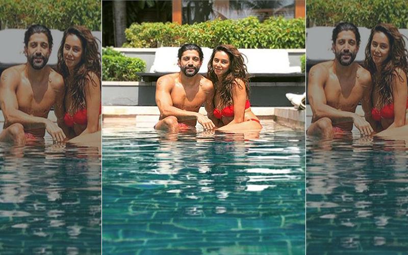 Farhan Akhtar And Shibani Dandekar's Pool Side Sun-kissed Picture Is All Things Love